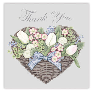 Sally Swannell Thank You Card, Flower Basket