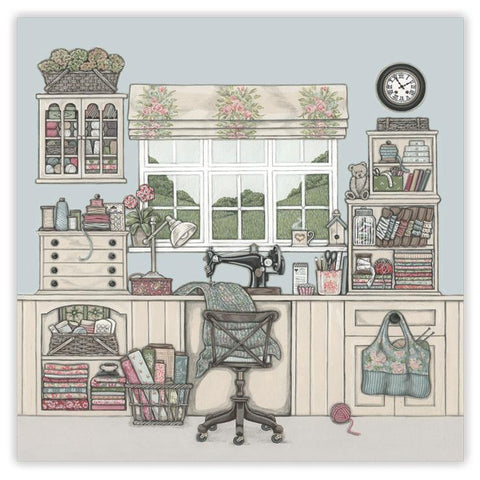 Sally Swannell 'The Sewing Room' Greetings Card