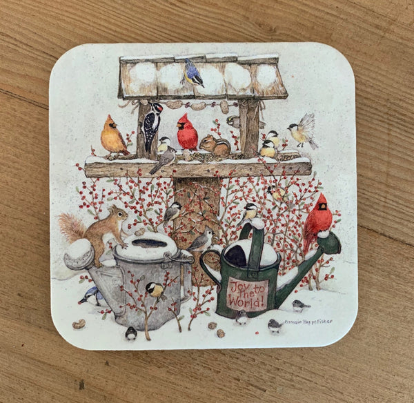 Winter Watering Can Coaster