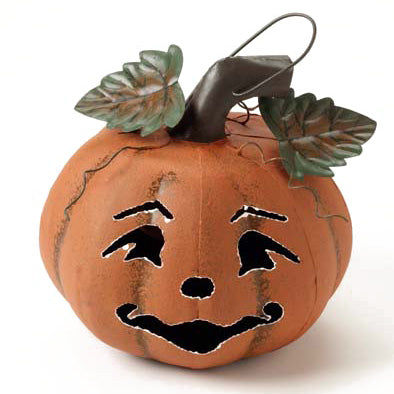 METAL HALLOWEEN PUMPKIN LANTERN