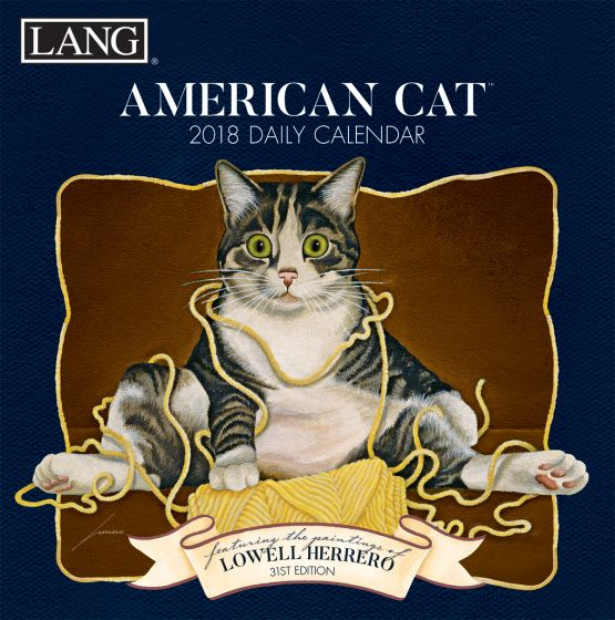 Lang American Cat 2018 Boxed Daily Calendar