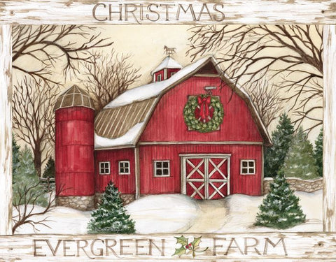 "Lang ""Evergreen Farm"" Boxed Christmas Cards"