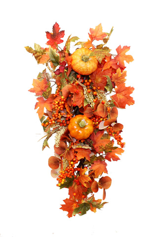 Autumn Glory Pumpkin Swag 60cm