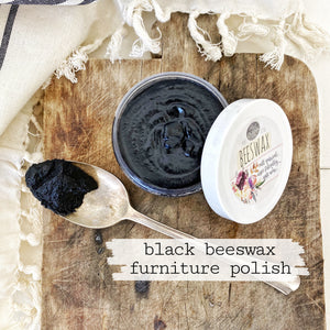 Sweet Pickins Tinted Beeswax Finish, Black (4oz)