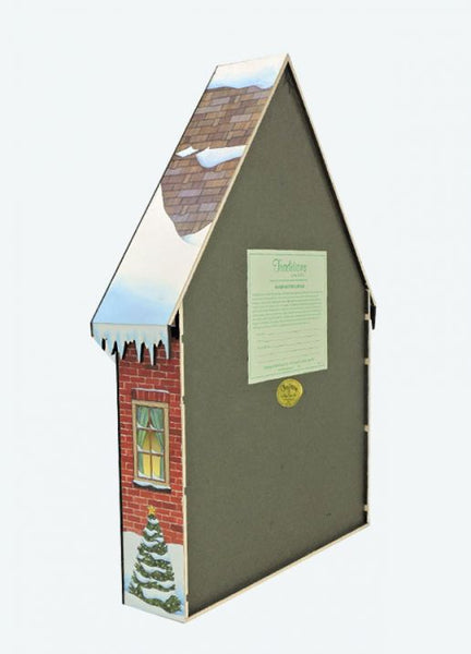 """Christmas House"" Wooden Advent Calendar, With Numbered Doors"
