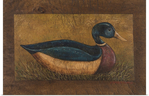 "Warren Kimble ""Duck"" Print 24""x16"""
