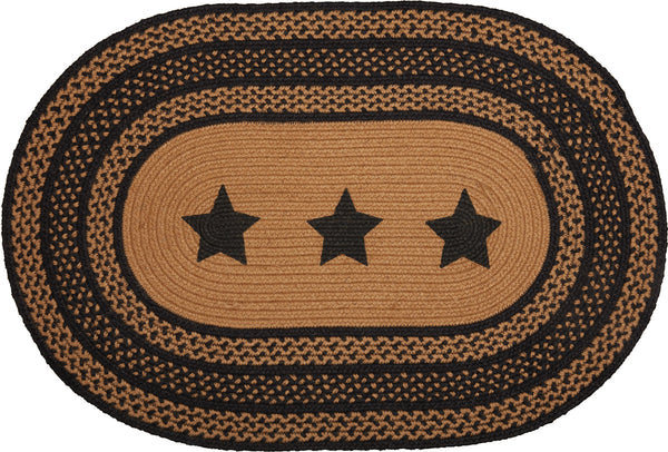 Farmhouse Star Braided oval Rug Rug 20x30""
