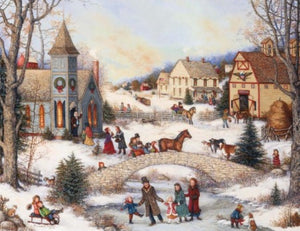Lang Folk Art Holiday Assorted Christmas Cards
