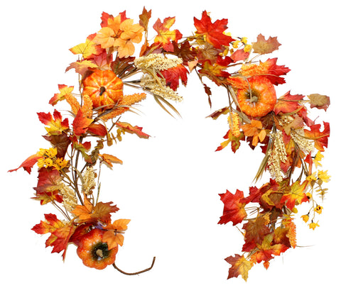 Harvest Fields Autumn Garland, 5ft