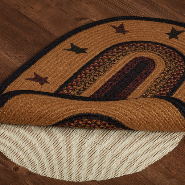 Heritage Farms Star Jute Rug Oval 20x30""