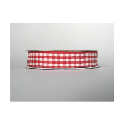 3m Ribbon, Red Gingham