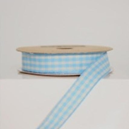 Blue Gingham Ribbon, 3m