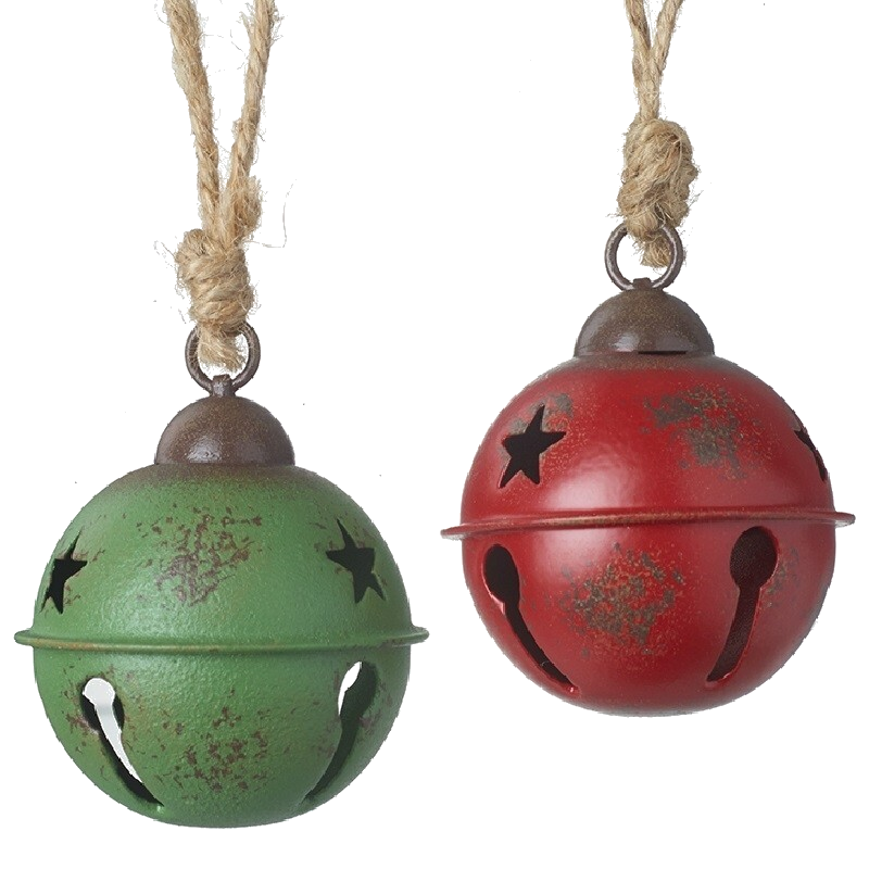 Large Metal Jingle Bell, Red or Green