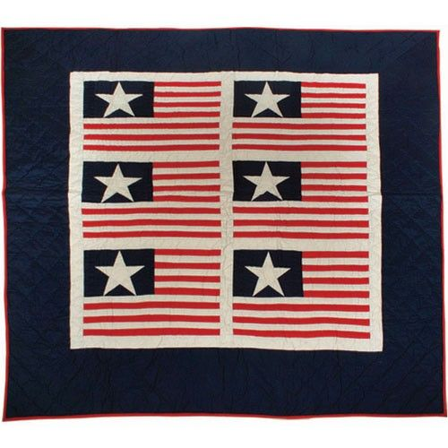 STARS AND STRIPES PATCHWORK THROW