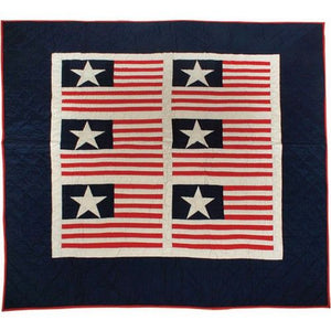 Independence Day Patchwork Throw