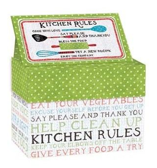 Lang Kitchen Rules - Recipe Card Box