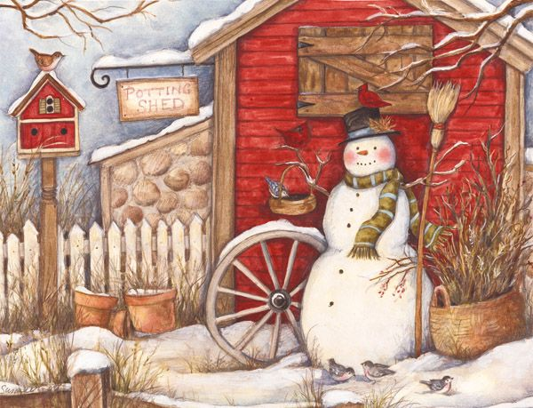 LANG WINTERS BARN CHRISTMAS CARDS