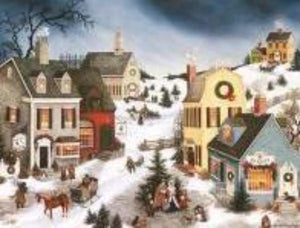 "Lang ""Caroling in the Village"" Boxed Christmas Cards"