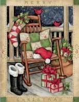 lang santas rocker boxed christmas cards