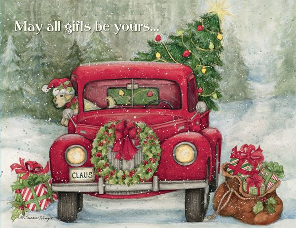 "Lang ""Santa's Truck"" Boxed Christmas Cards"