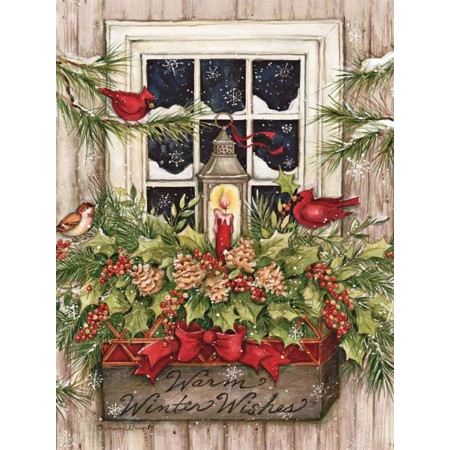 "Lang "" Window Box & Snow"" Boxed Christmas Cards"