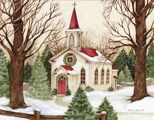 "Lang ""Woodland Church"" Boxed Christmas Cards"