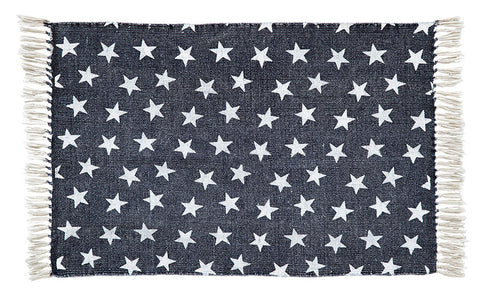 "Multi Star Navy Rug 20"" x 30"""