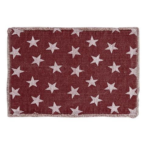 Multi Star Red Placemat, Set of 2