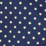 Navy and Cream Star Cotton Fabric