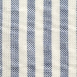 Homespun Cotton, Pale Blue /White Stripe