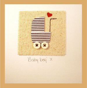 Patchwork Baby Boy Card