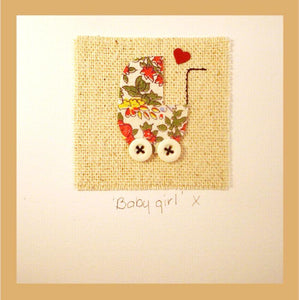 Patchwork Baby Girl Card