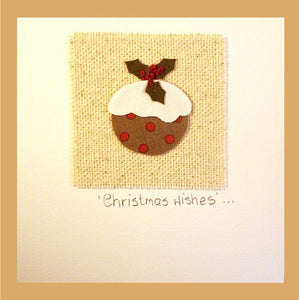 Patchwork  'Christmas Pudding'  Card