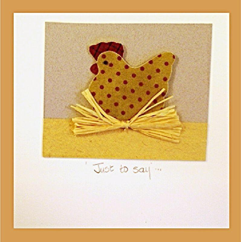 Patchwork Hen on Nest Card