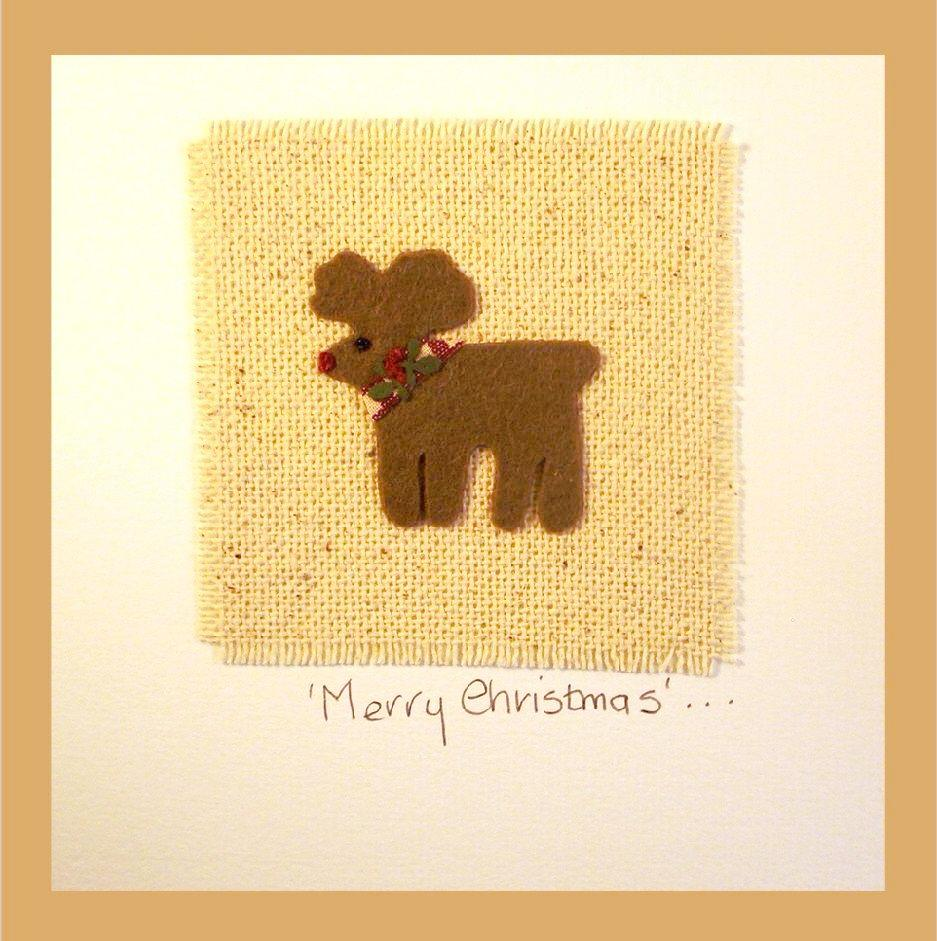 Patchwork  'Reindeer' Card