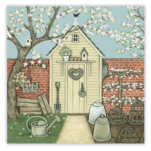 Sally Swannell 'Potting Shed' Greetings Card