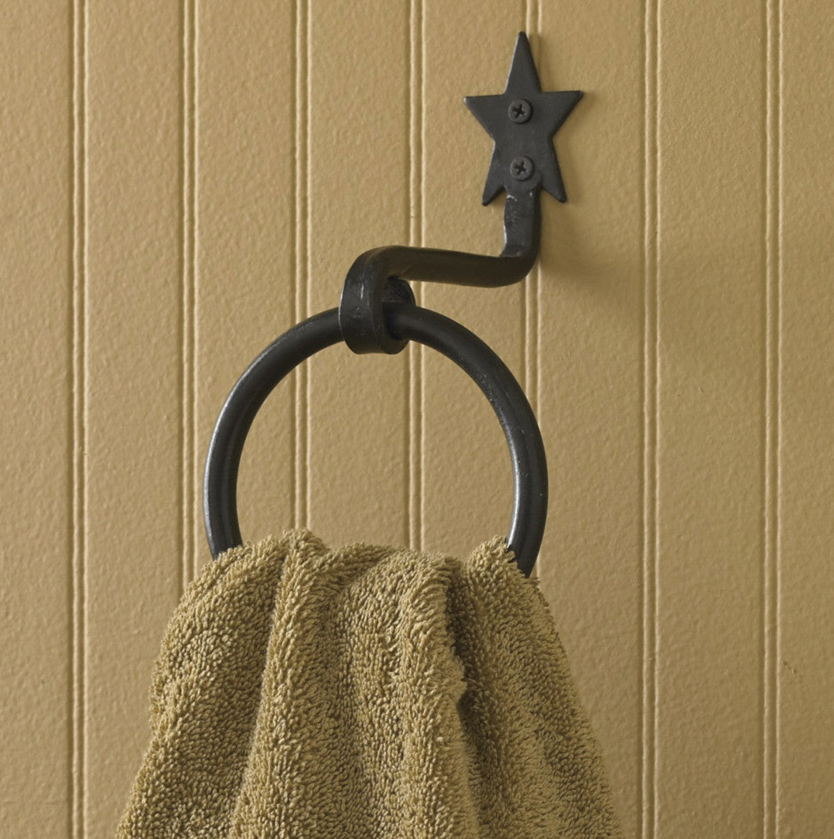 "Black Star ""Ring Hook"" Towel Holder"