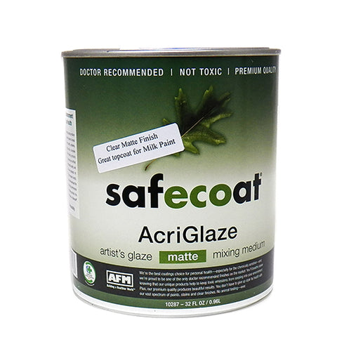 Safecoat Acriglaze Matte varnish, Quart Tin