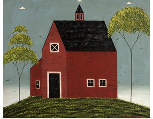 "Warren Kimble ""Summer Barn"" Print 20""x16"""
