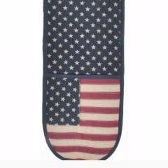'Vintage Glory' American Flag Double Oven Gloves