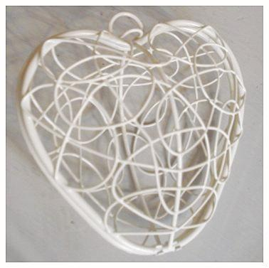 White Heart Basket