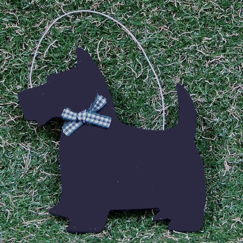 Wooden Scottie Decoration