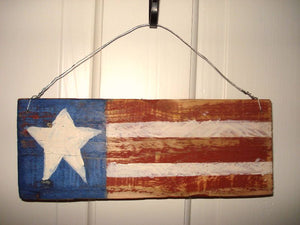Wooden Stars and Stripes Plaque
