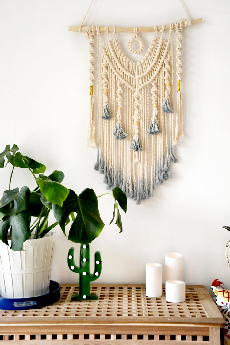White wall hanging Living room decor Macrame wall art – YourTime