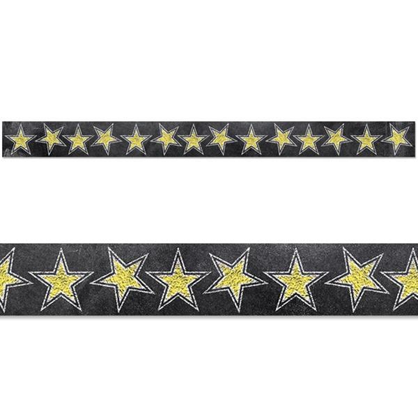 Chalk It Up! Gold Stars Border
