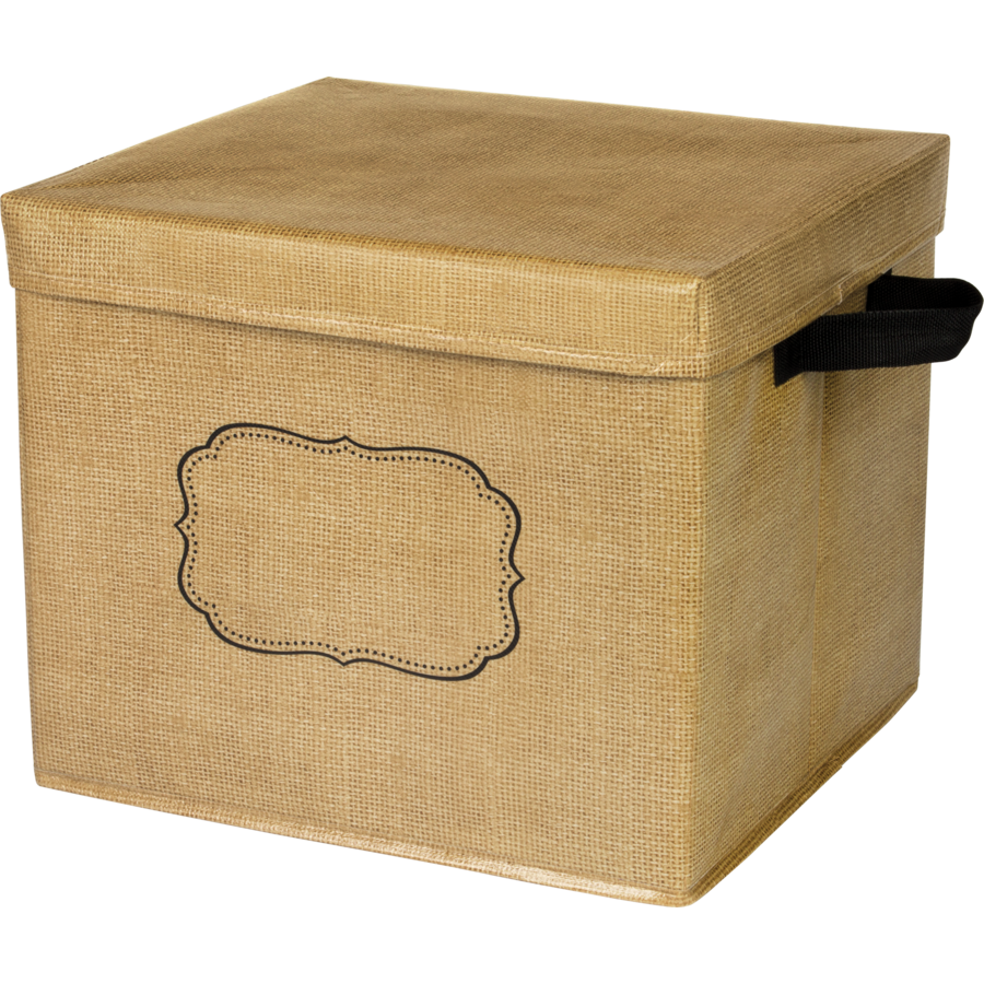 Burlap Storage Box