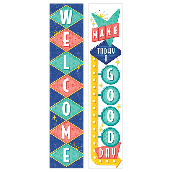 Mid-Century Mod Welcome Banner