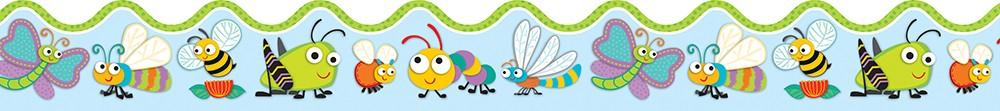 Buggy for Bugs Scalloped Border