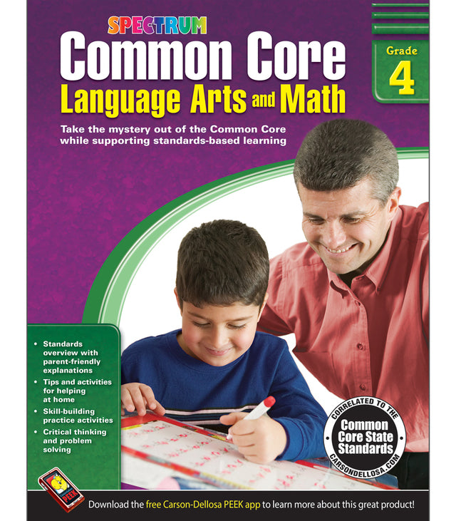 Spectrum Common Core Language Arts and Math (Grades K-6)