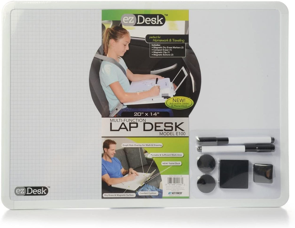 EZDesk Magnetic Dry Erase Lap Desk with Graph Ruling